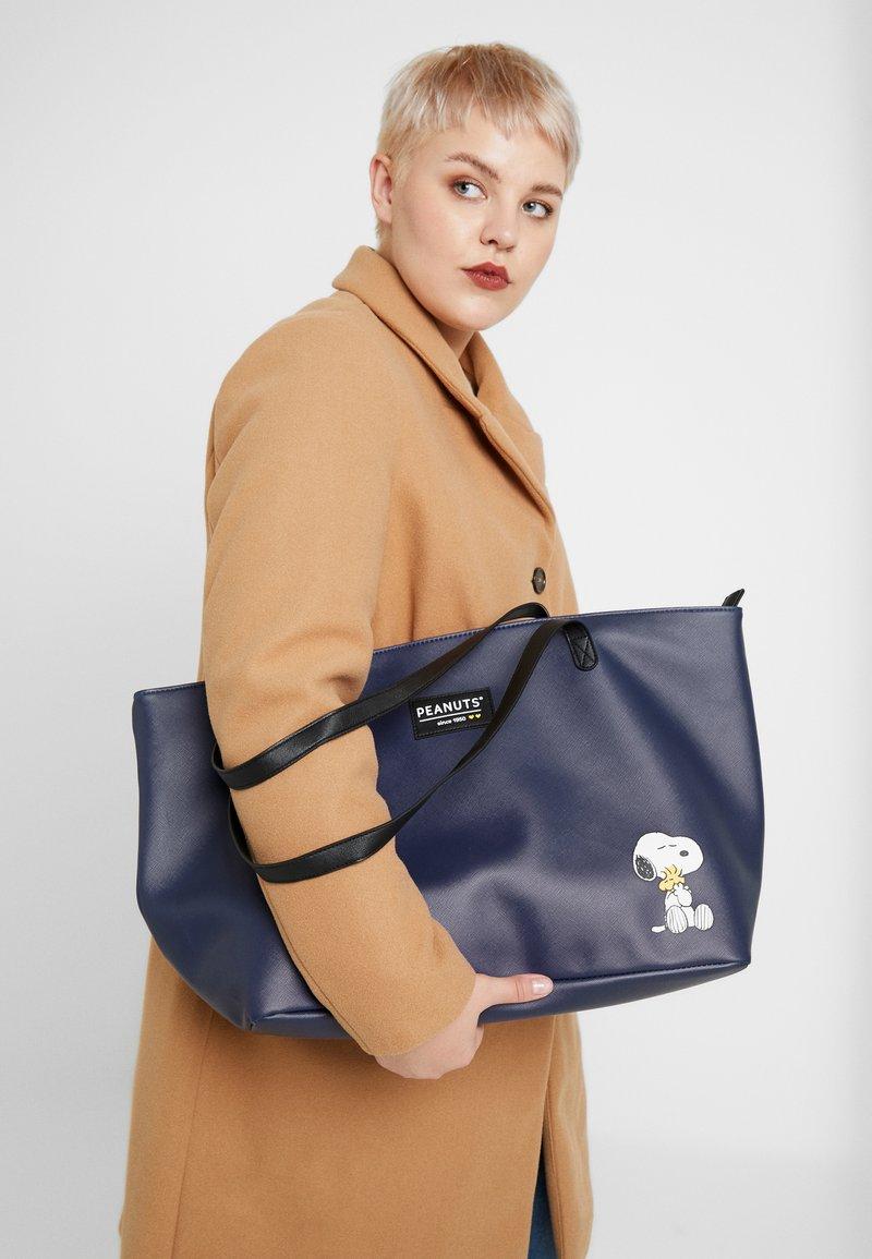 Kidzroom - SNOOPY FOREVER FAMOUS SHOPPER - Shopping Bag - dark blue