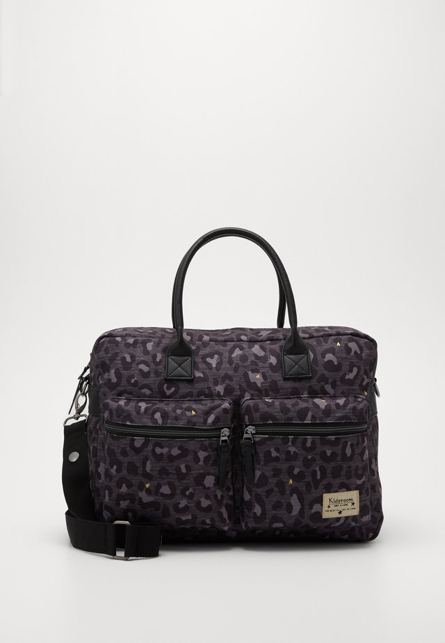 DIAPER BAG KIDZROOM CARE LEOPARD LOVE - Torba do przewijania - black
