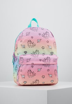 BACKPACK MILKY KISS RAINBOWS AND UNICORNS BIG - Ryggsekk - multicoloured
