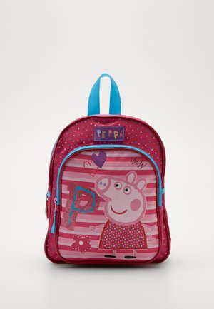 BACKPACK PENCIL CASE PEPPA PIG BE HAPPY SET - Mochila escolar - pink