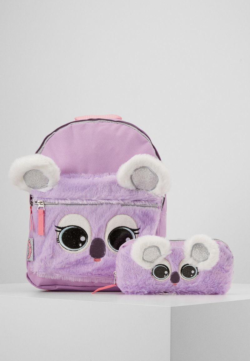 Kidzroom - BACKPACK PENCIL CASE LULUPOP THE CUTIEPIES FLUFFY AND SWEET SET - Školní taška - purple
