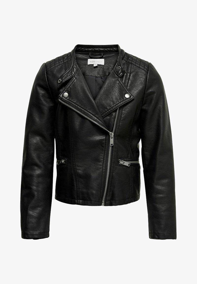 Kids ONLY - Faux leather jacket - black