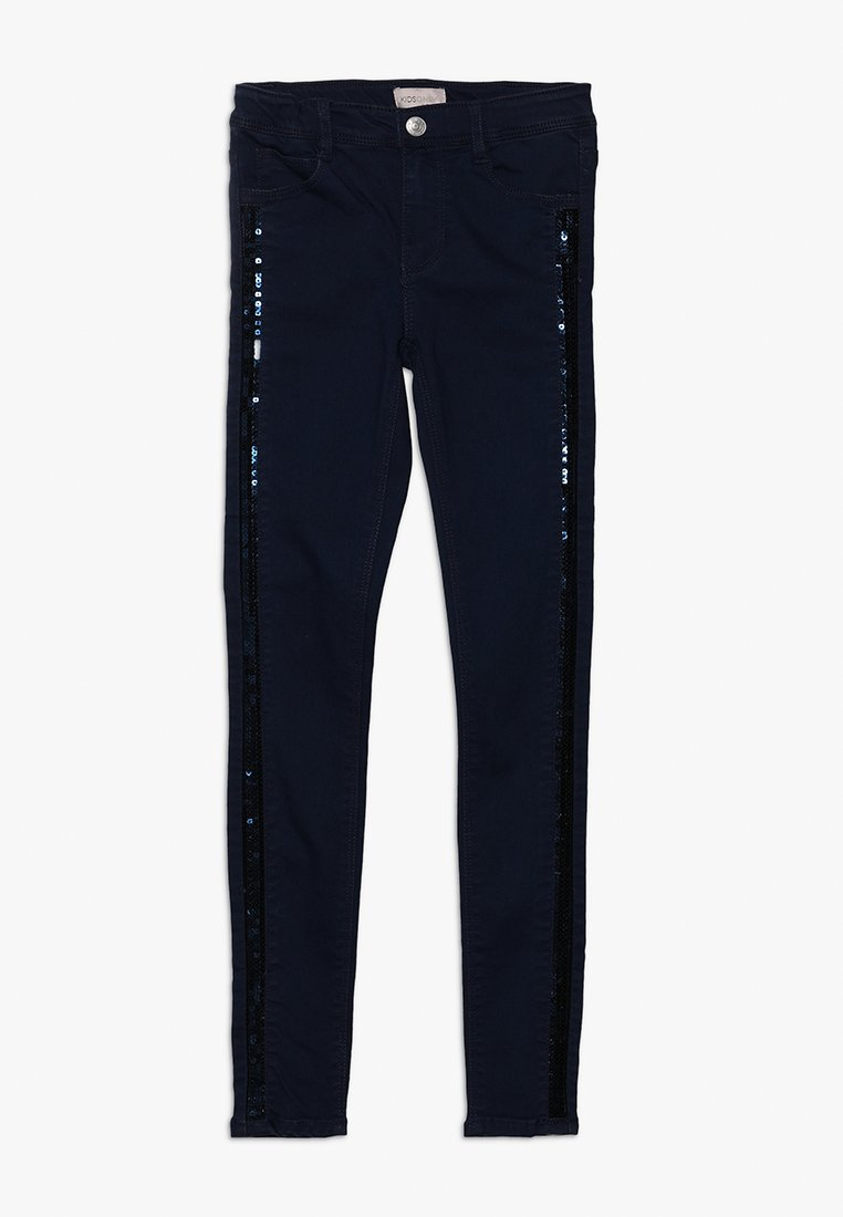 Kids ONLY - KONSASHA SEQUIN PANEL - Skinny džíny - dark blue denim