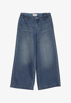 KONLISA WIDE CROPPED - Flared Jeans - medium blue denim