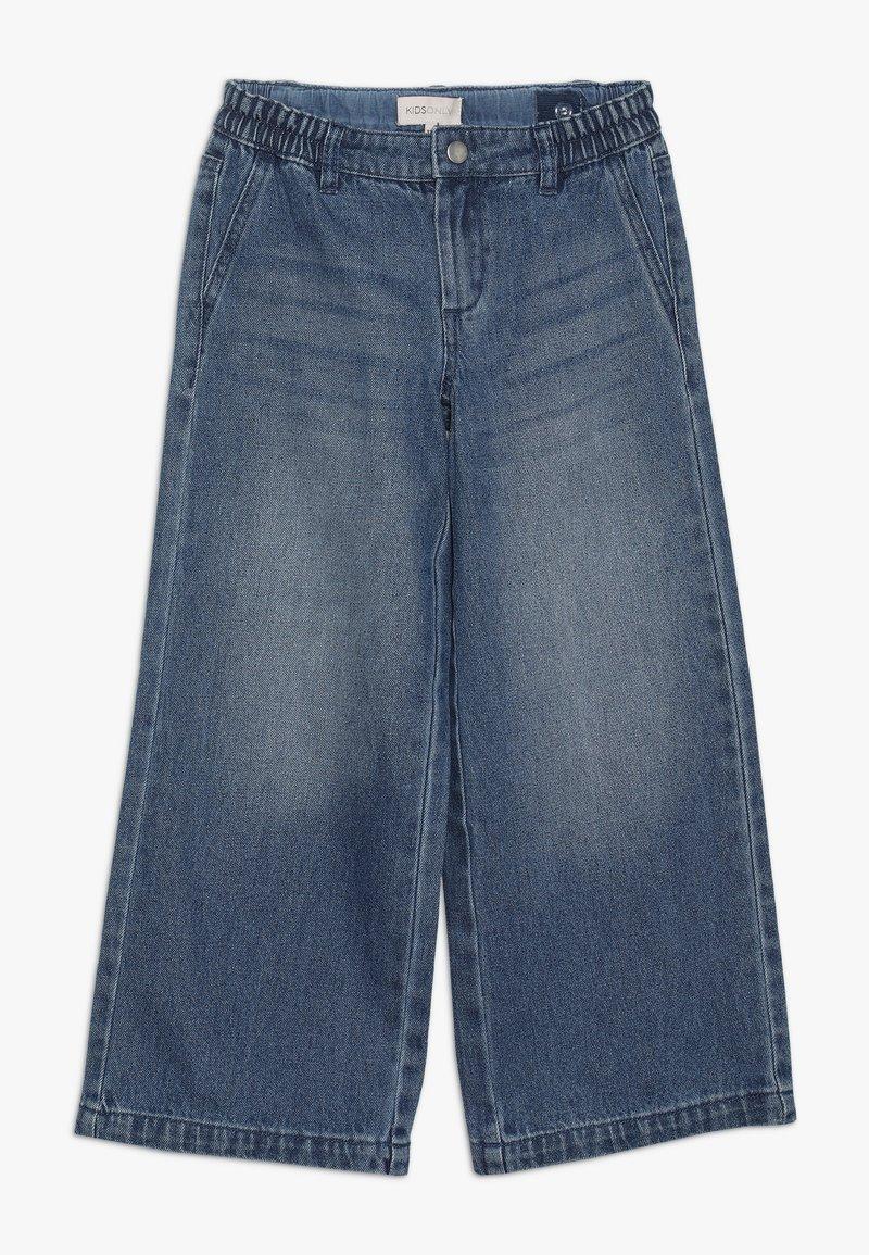 Kids ONLY - KONLISA WIDE CROPPED - Flared Jeans - medium blue denim