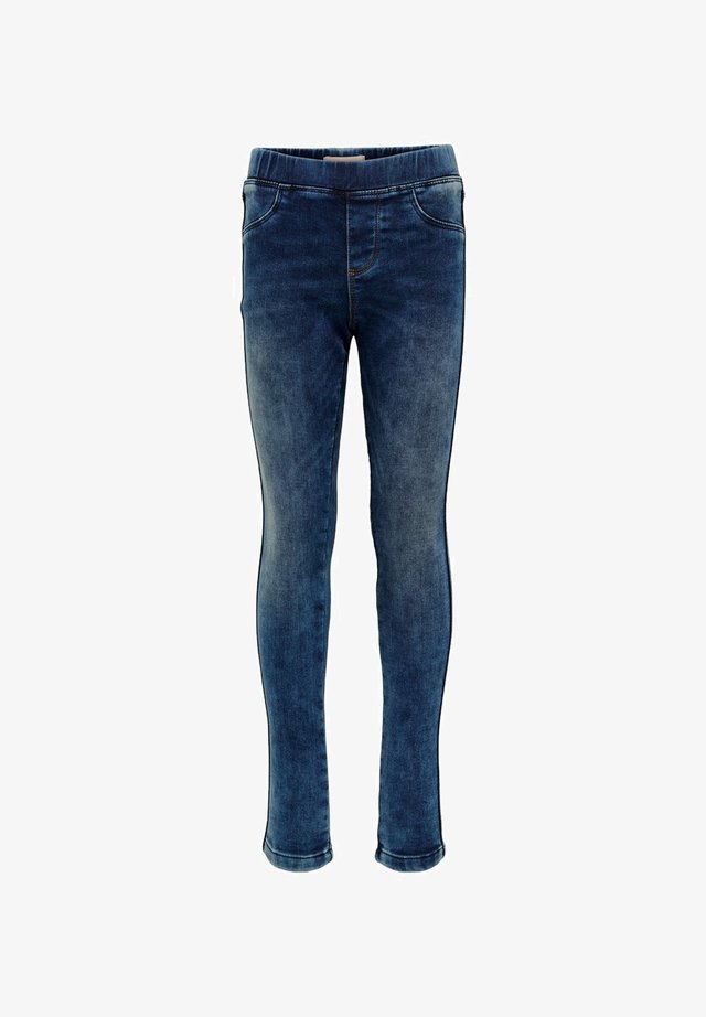 Farkkuleggingsit - medium blue denim