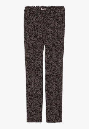 KONCOCO PAPERBAG PANT - Kalhoty - bitter chocolate