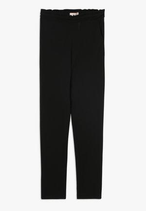 KONCOCO PAPERBAG PANT - Spodnie materiałowe - black