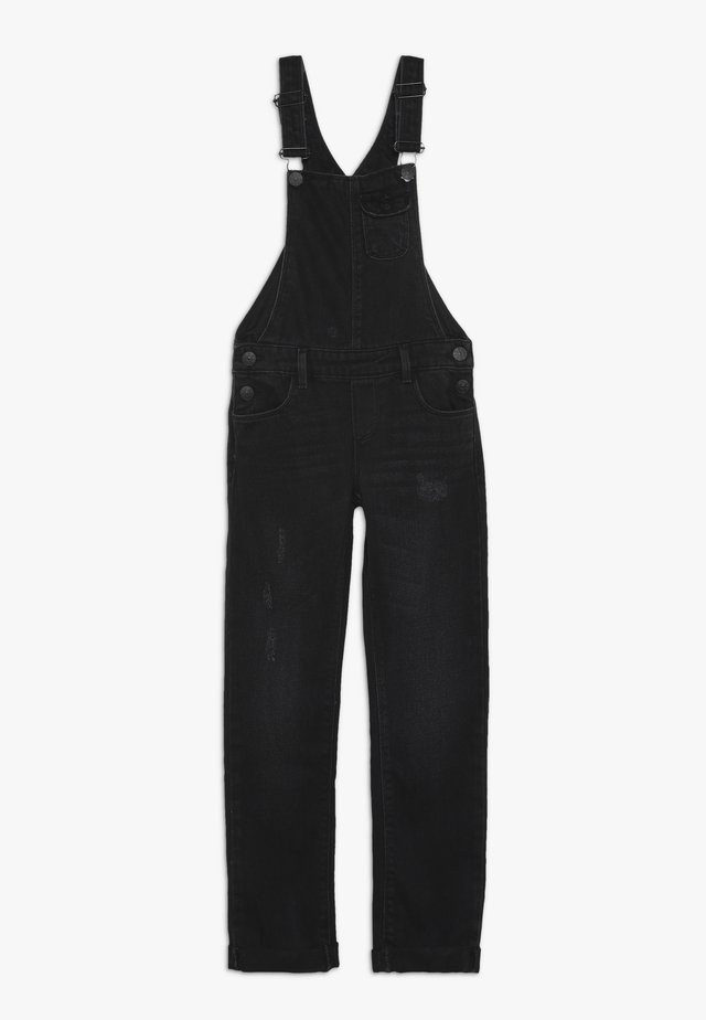 KONLISE BLACK OVERALL - Latzhose - black denim