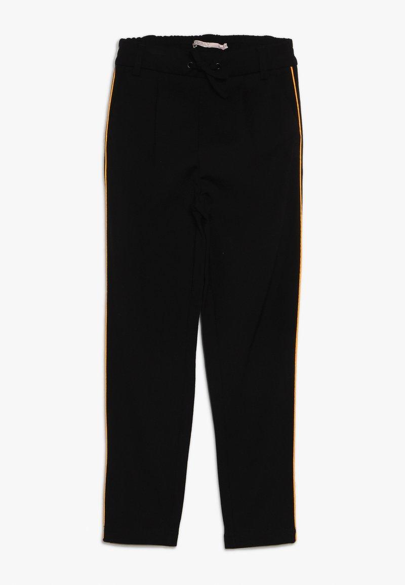 Kids ONLY - KONPOPTRASH SNAKE PANEL PANT - Tracksuit bottoms - black/orange