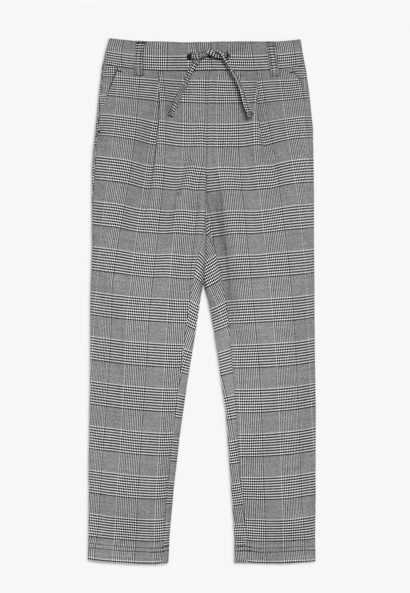 Kids ONLY - KONPOPTRASH SOFT CHECK PANT - Stoffhose - medium grey melange