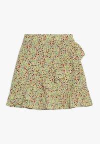 Kids ONLY - KONTHYRA FAKE WRAP SKIRT - Áčková sukně - popcorn - 0