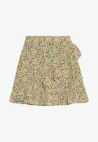 Kids ONLY - KONTHYRA FAKE WRAP SKIRT - Áčková sukně - popcorn - 2