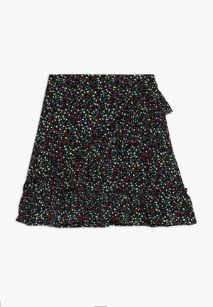KONTHYRA FAKE WRAP SKIRT - Áčková sukně - black