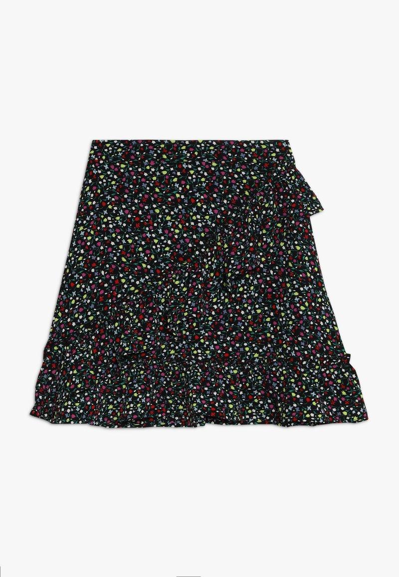 Kids ONLY - KONTHYRA FAKE WRAP SKIRT - Áčková sukně - black