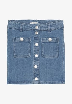 KONPAIGE BUTTON SKIRT - Farkkuhame - light blue denim