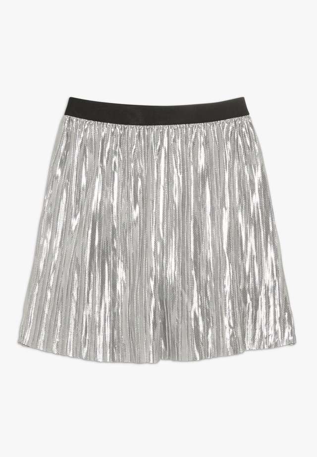 KONKAJA PLISSE SKIRT  - A-line skirt - silver