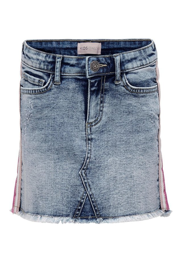 KIDS ONLY JEANSROCK EINSATZ - A-linjainen hame - medium blue denim