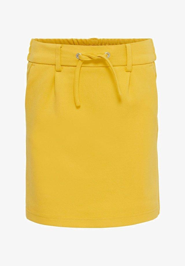 A-line skirt - spicy mustard