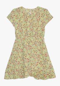 Kids ONLY - KONTHYRA FAKE WRAP DRESS - Denní šaty - popcorn - 0