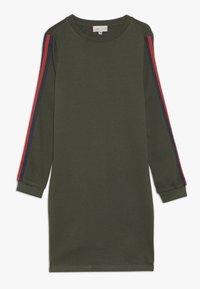 Kids ONLY - KONBETTY TAPE DRESS  - Denní šaty - grape leaf/red tape - 0