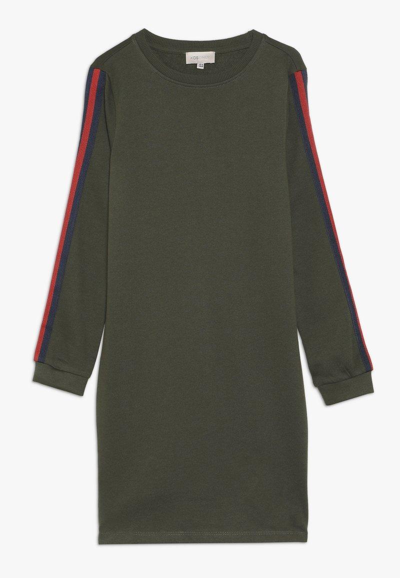 Kids ONLY - KONBETTY TAPE DRESS  - Denní šaty - grape leaf/red tape