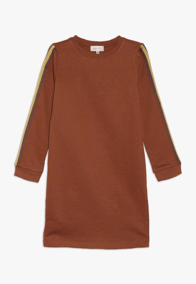 Kids ONLY - KONBETTY TAPE DRESS  - Denní šaty - ginger bread