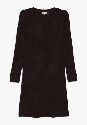 KONANA DRESS - Pletené šaty - bitter chocolate/melange