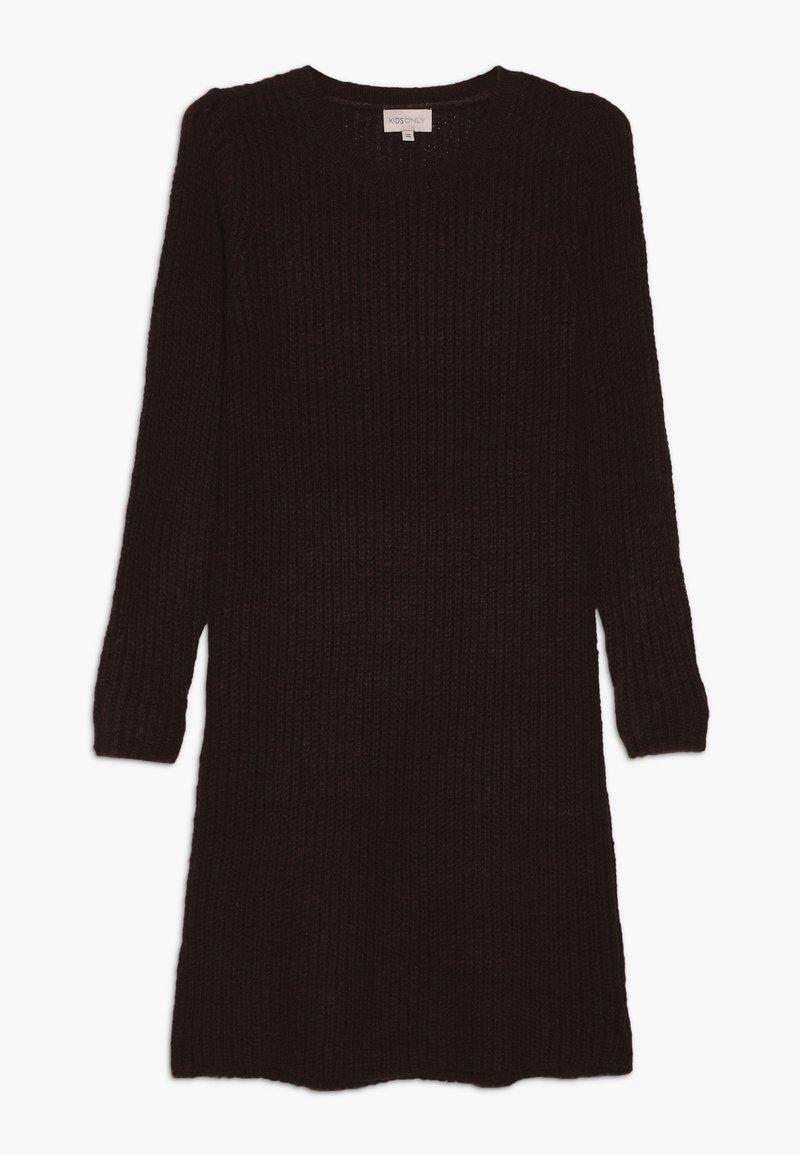 Kids ONLY - KONANA DRESS - Pletené šaty - bitter chocolate/melange