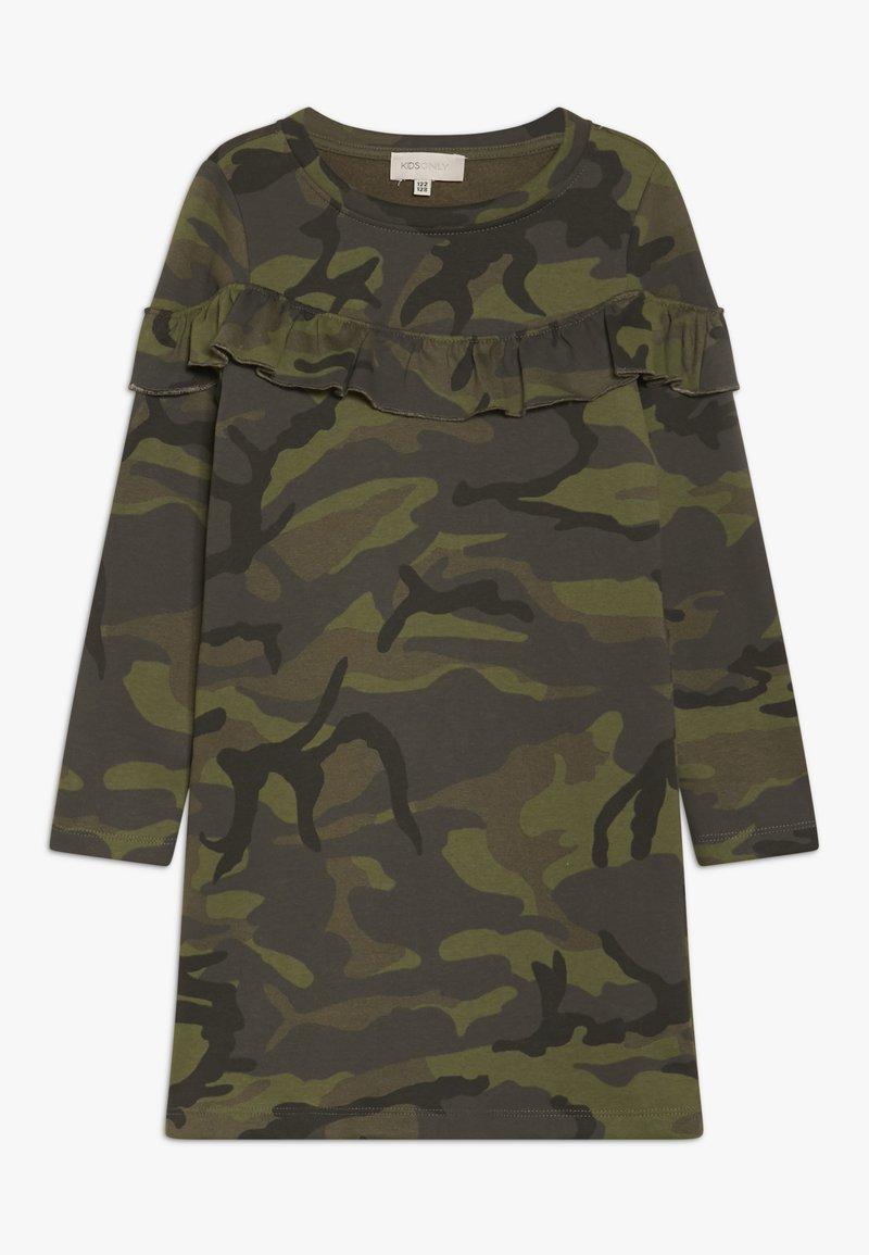 Kids ONLY - KONCAMO BEAT FRILL DRESS - Denní šaty - crocodile