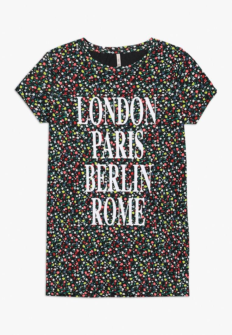 Kids ONLY - KONVILMA LONG - Print T-shirt - black
