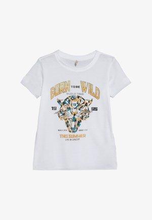 KONBONNIE LEO BOX - Print T-shirt - bright white