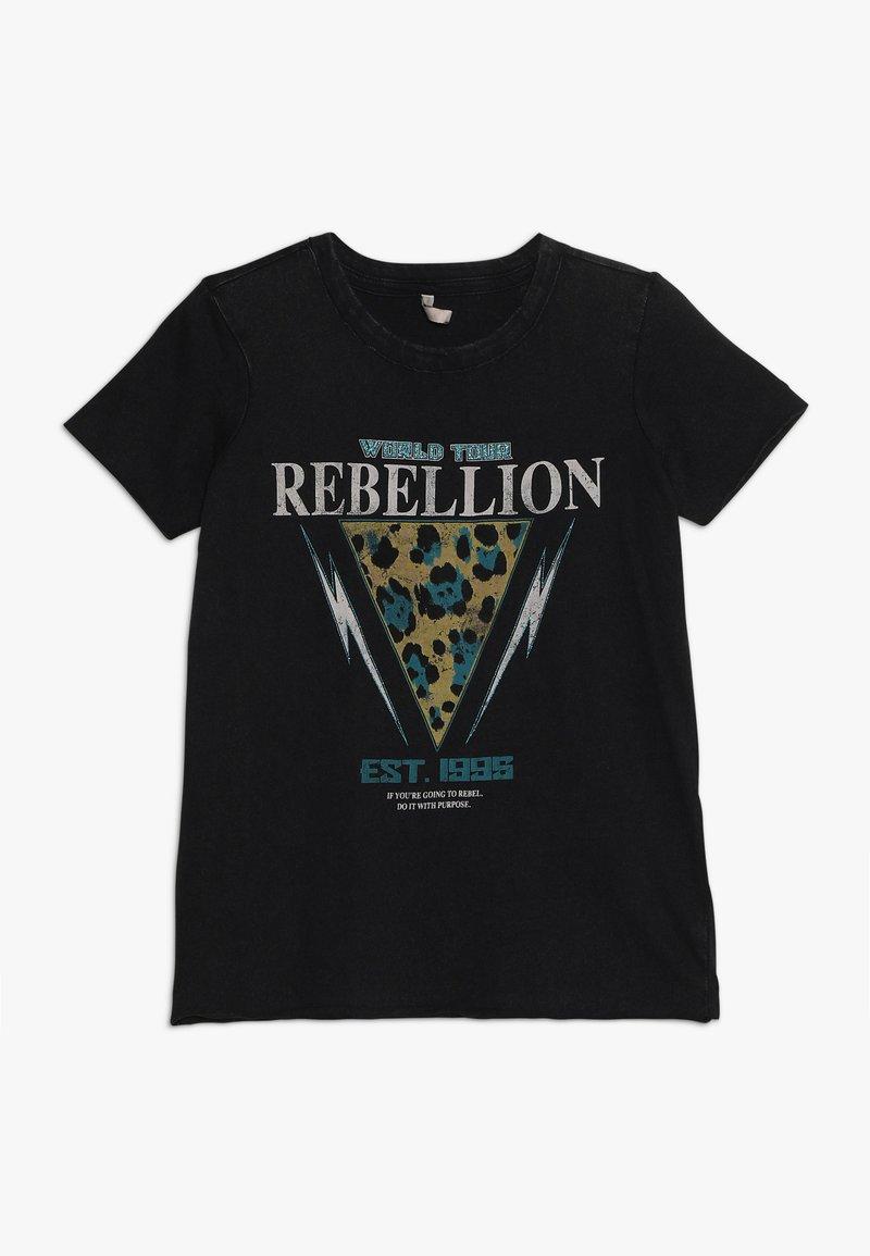 Kids ONLY - KONBONNIE LEO BOX - Print T-shirt - black/rebellion