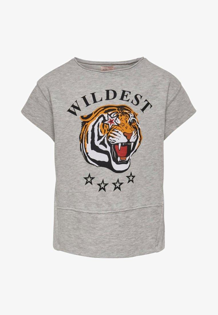 Kids ONLY - T-shirt z nadrukiem - light grey