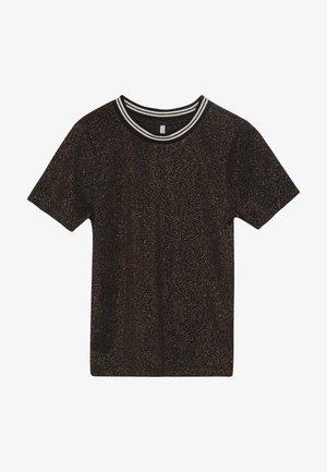 KONSILVERY - T-shirt z nadrukiem - black/rose gold