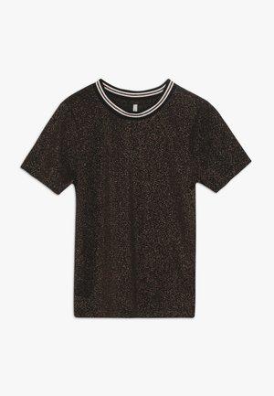 KONSILVERY - Print T-shirt - black/rose gold