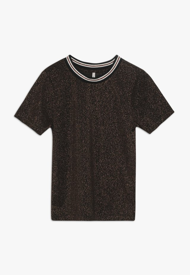 KONSILVERY - T-shirts med print - black/rose gold