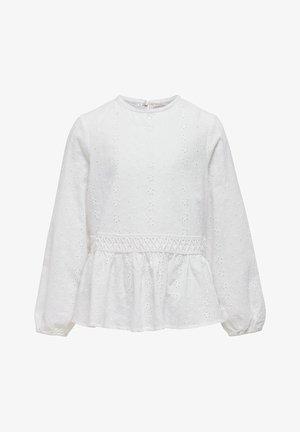 OBERTEIL STRUKTUR - Blouse - bright white