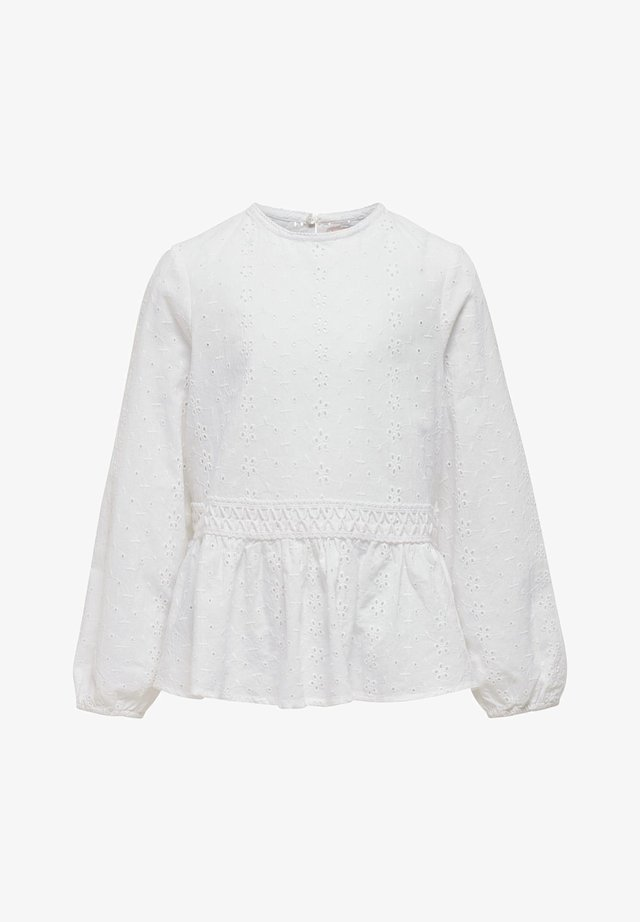 OBERTEIL STRUKTUR - Blouse - bright white