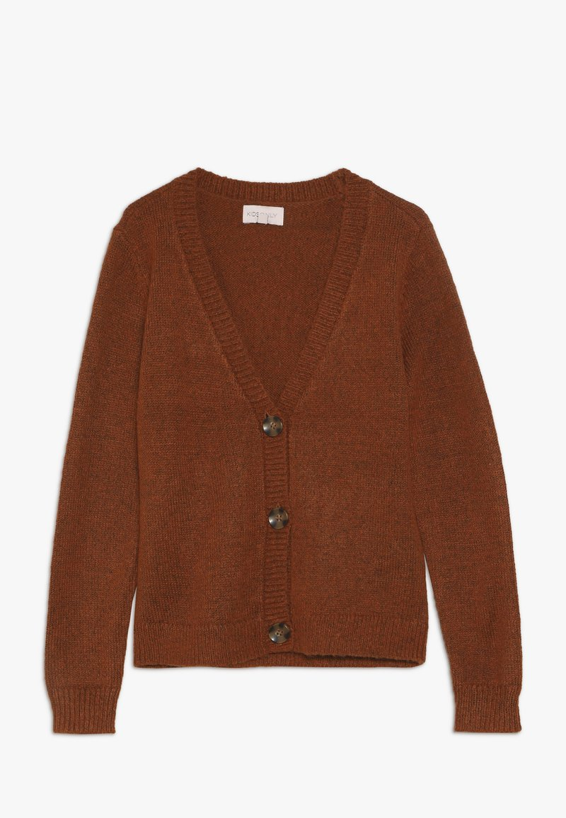 Kids ONLY - KONANA CARDIGAN - Chaqueta de punto - ginger bread melange