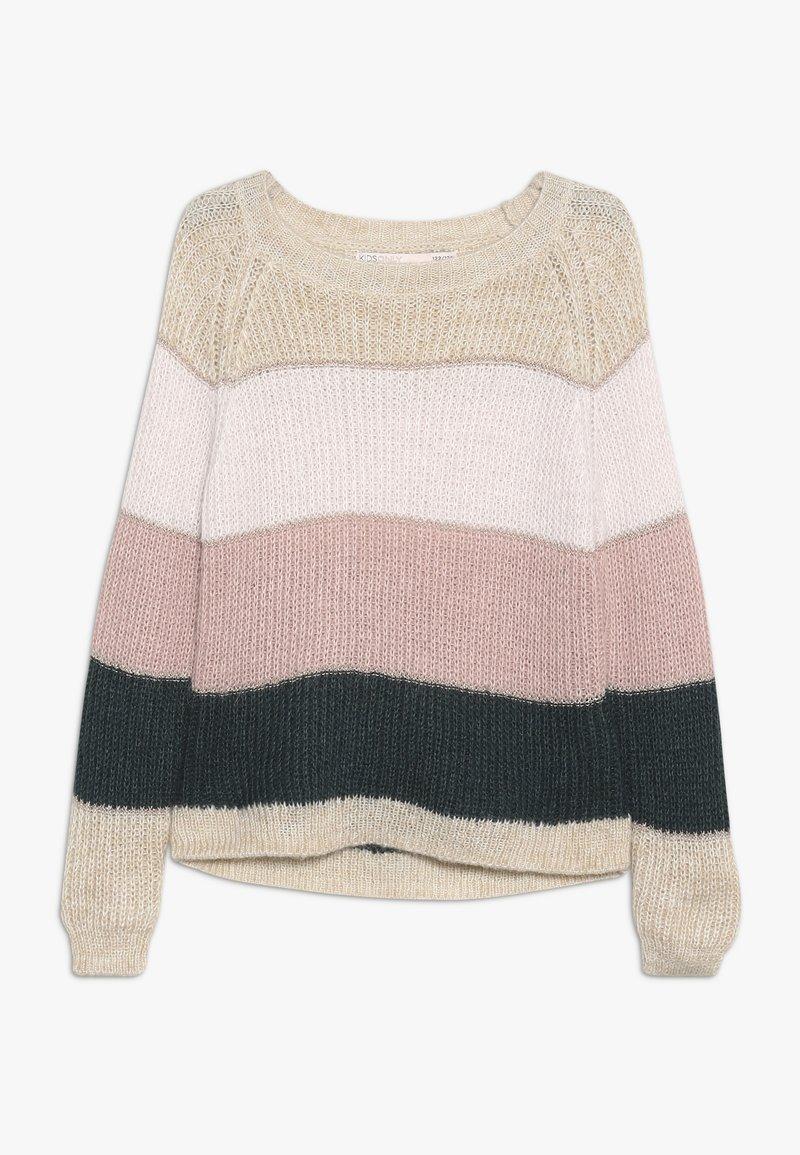 Kids ONLY - KONMALONE - Strikpullover /Striktrøjer - pumice stone/primrose pink/misty