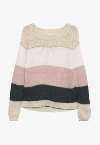 Kids ONLY - KONMALONE - Strickpullover - pumice stone/primrose pink/misty - 2