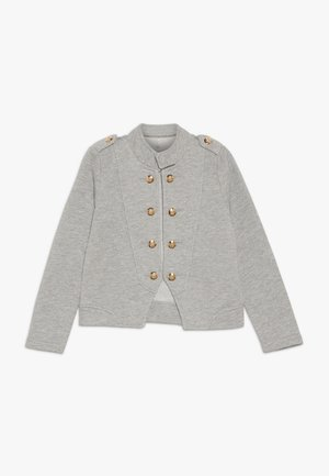 Zip-up hoodie - light grey melange/gold