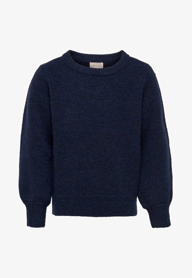 BALLOON SLEEVES - Pullover - peacoat