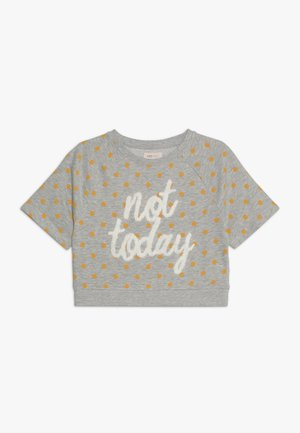 KONNEELA 3/4 O NECK DOT - Sweatshirt - light grey melange