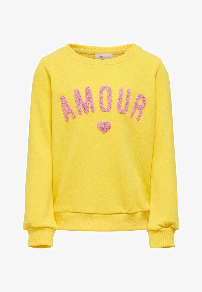 Kids ONLY - SWEATSHIRT STATEMENT - Sweatshirt - primrose yellow
