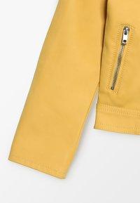 Kids ONLY - KONCARLA - Faux leather jacket - yolk yellow - 2