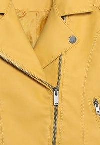 Kids ONLY - KONCARLA - Faux leather jacket - yolk yellow - 4
