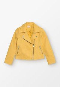 Kids ONLY - KONCARLA - Faux leather jacket - yolk yellow - 0