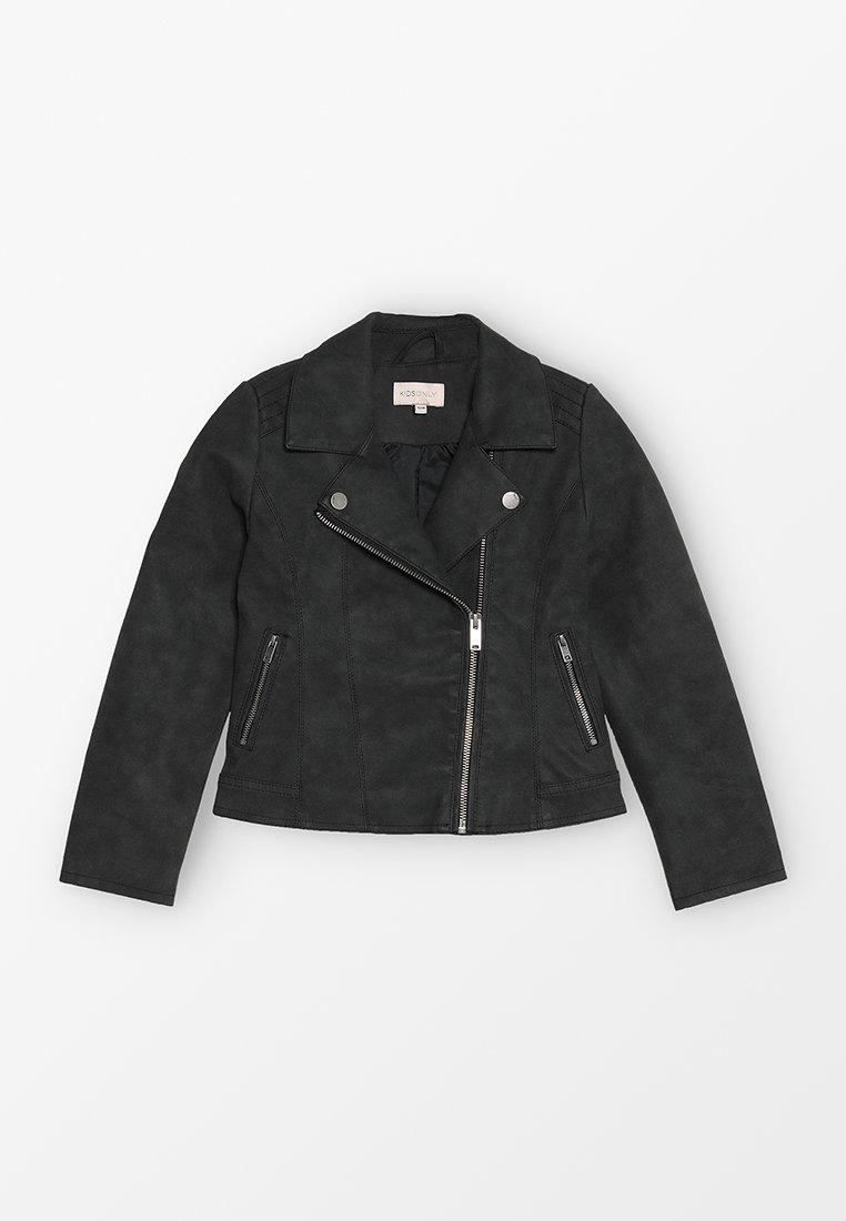 Kids ONLY - KONCARLA BIKER - Imitatieleren jas - black